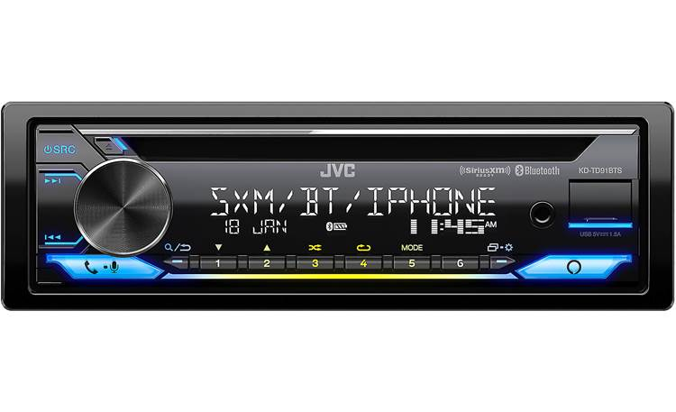 JVC KD-TD91BTS Variable lighting settings let this Alexa-equipped receiver blend in or stand out
