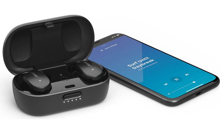 Bose QuietComfort® Earbuds The charging case banks enough power to recharge the earbuds twice