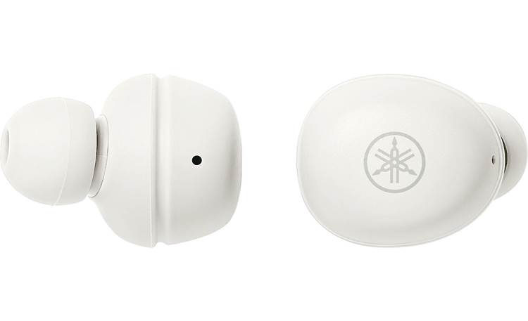 Yamaha TW-E3A Buttons on each earbud for controlling music, calls, volume, and more