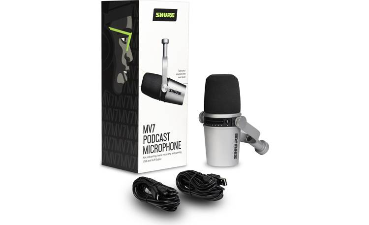 Shure MV7 Mic with included accessories