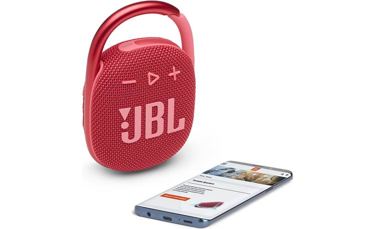 JBL Clip 4 Stream wirelessly via Bluetooth (smartphone not included)