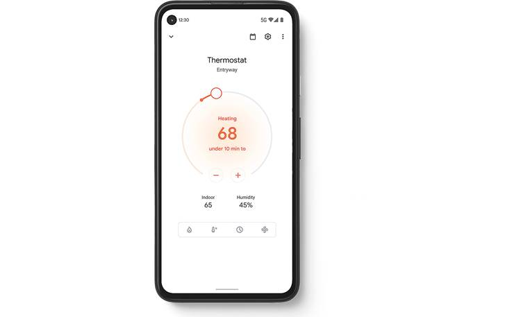 Google Nest Thermostat Google Home app shows your home's temperature, humidity, and more