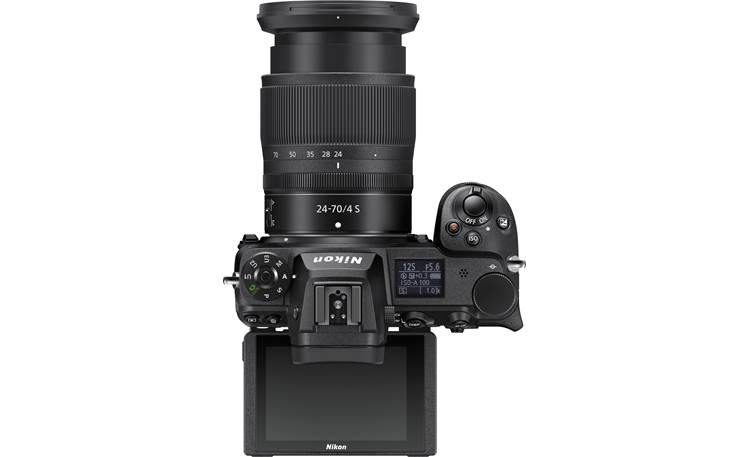 Nikon Z 7II Zoom Lens Kit Top-panel controls with tilting LCD screen extended