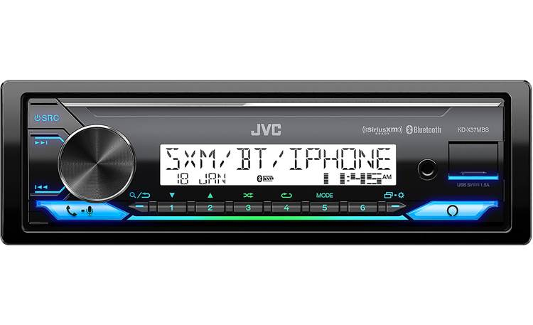 JVC KD-X37MBS JVC's reverse display cuts through glare and makes this receiver ideal for open-top vehicles