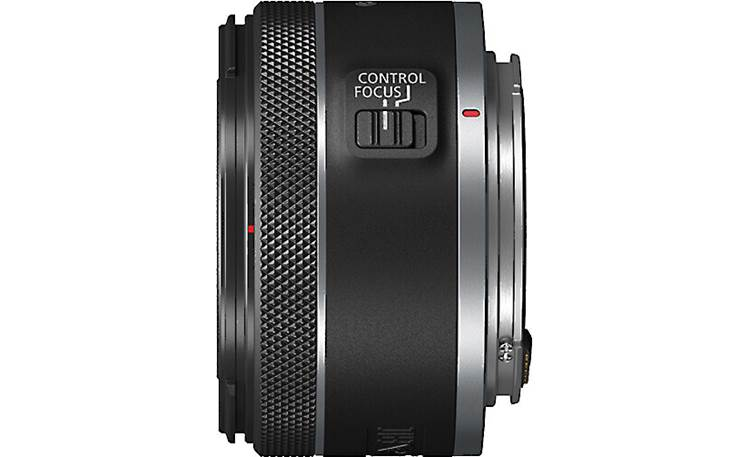 Canon RF 50mm f/1.8 STM A customizable control ring allows direct adjustments to settings like shutter speed and aperture