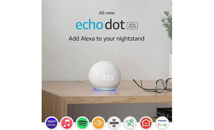 Amazon Echo Dot with Clock (4th Generation) Compatible with many online services