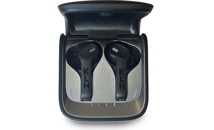 KLH Fusion Carrying case charges headphones wirelessly
