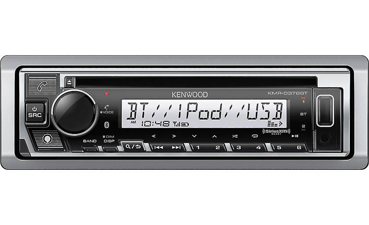 Kenwood KMR-D378BT With a press of a button, let Alexa assist you while you're on the water