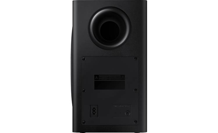 Samsung HW-T650 Ported subwoofer enclosure delivers deep bass