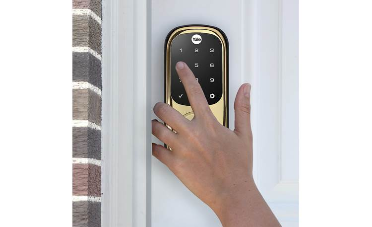 Yale Real Living Assure Lock Touchscreen Deadbolt (YRD226) with Z-Wave® Backlit numbers make it easy to see