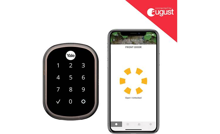 Yale Real Living Assure Lock SL Key-free Touchscreen Deadbolt (YRD256) with Wi-Fi Module Control the lock with the August app on your smartphone