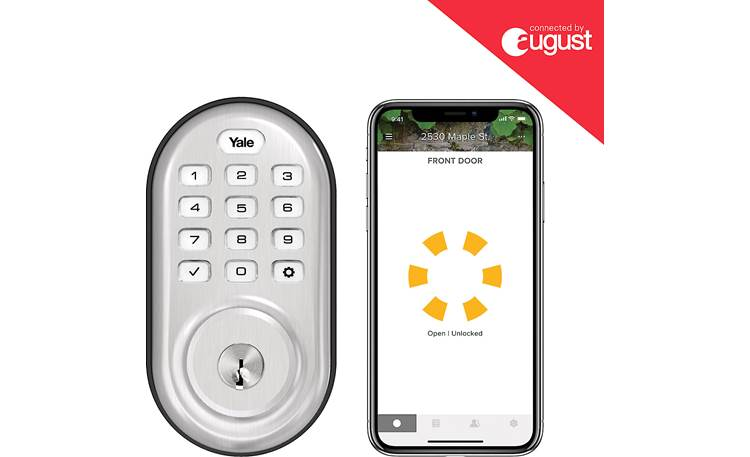 Yale Real Living Assure Lock Keypad Deadbolt (YRD216) with Wi-Fi Module Control the lock with the August app on your smartphone