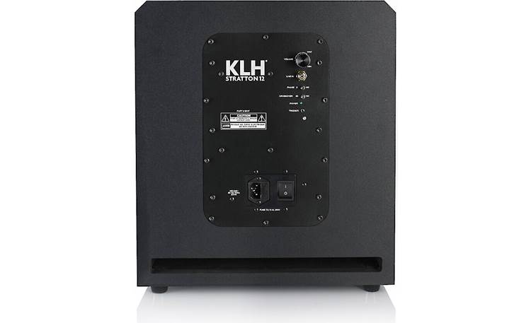KLH Stratton 12 Volume, phase, and crossover controls are integrated into the back panel