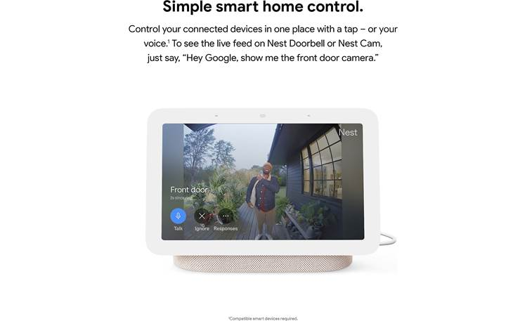 Google Nest Hub (2nd gen) Control compatible smart home devices