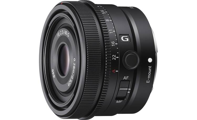 Sony FE 40mm f/2.5 G Shown with included lens hood removed