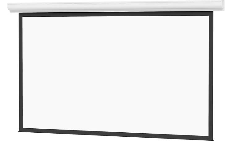 Da-Lite Designer Contour Electrol 14427 Screen slides down from aluminum case with white powder-coated finish