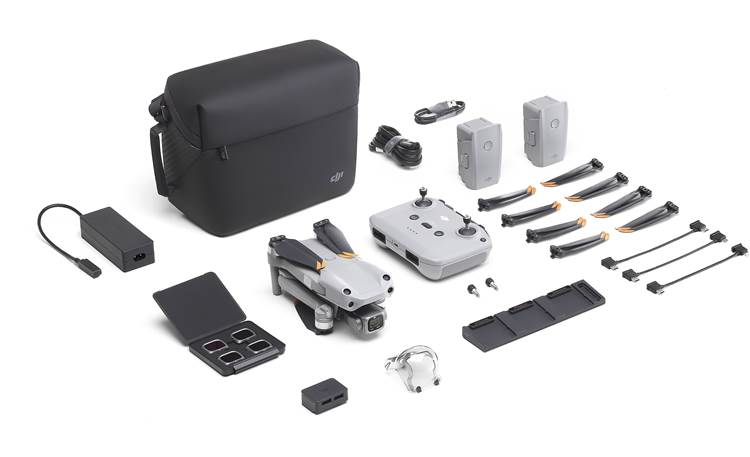 DJI Air 2S Fly More Combo Includes drone, extra batteries, multi-charger, and remote controller