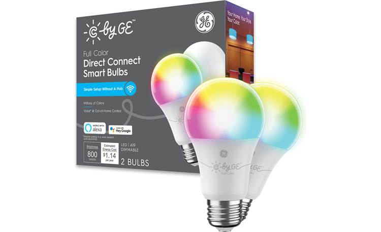 C by GE Full-color Dimmable Smart A19 Bulbs Front