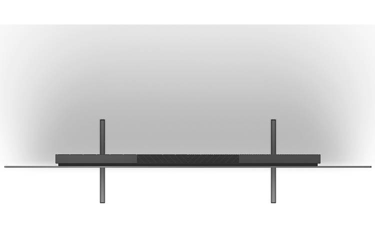 Sony BRAVIA XR-55A80J Stand in its narrowest position (top)