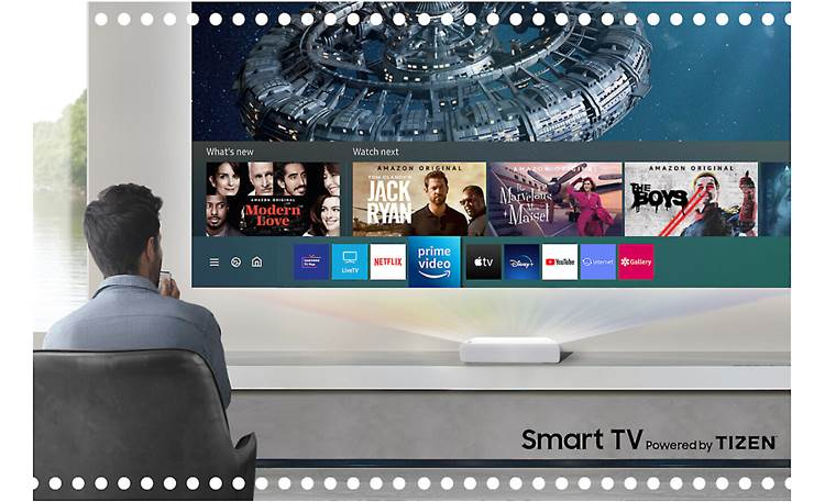 Samsung The Premiere LSP7T Tizen Smart TV platform is built in