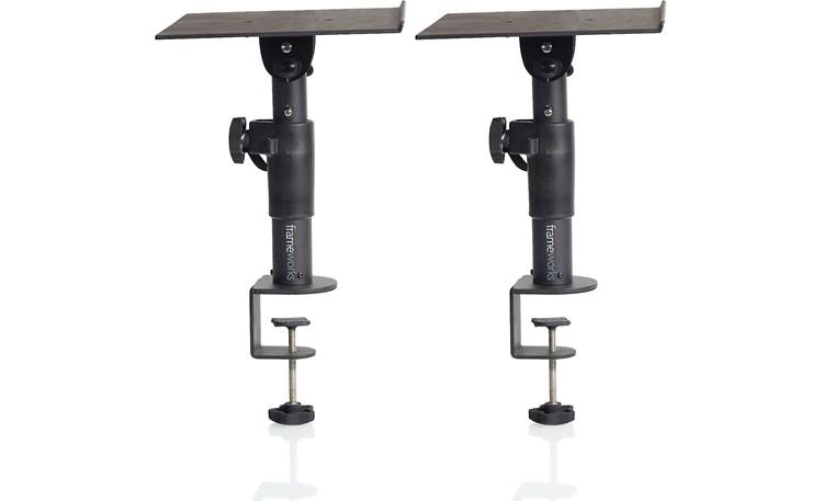 Gator Frameworks Desktop Clamp-On Studio Monitor Stands Front