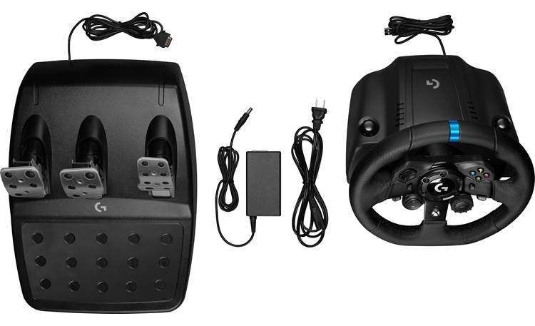 Logitech G G923 (Xbox®) Top with included power cables (wheel and pedals)