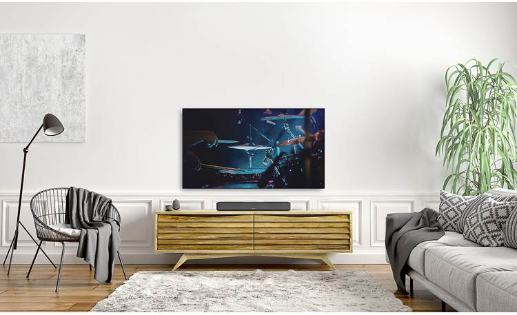 Denon Home Sound Bar 550 Simple and streamlined design helps the sound bar match most rooms