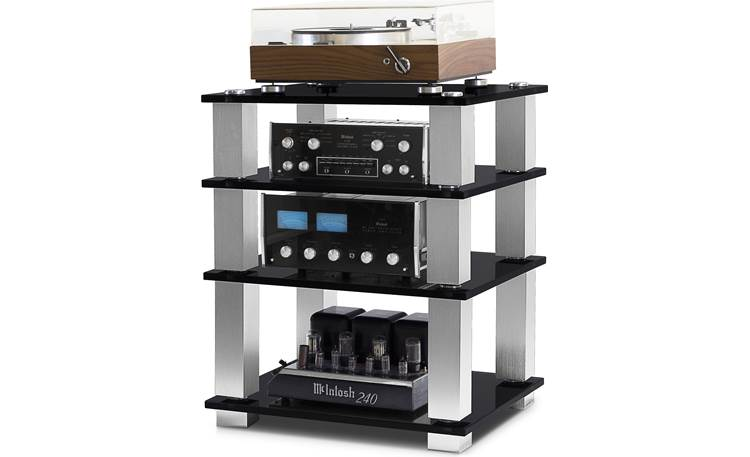 NorStone Designs Square HiFi Each shelf supports up to 110 lbs. (components not included)