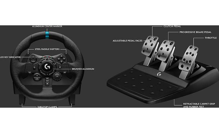 Logitech G G923 (PlayStation®) G923 comes with steering wheel and pedals