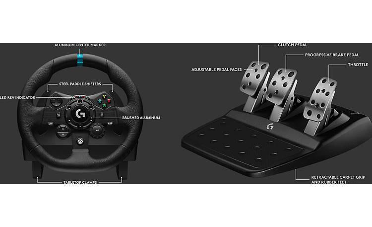 Logitech G G923 (Xbox®) G923 comes with steering wheel and pedals