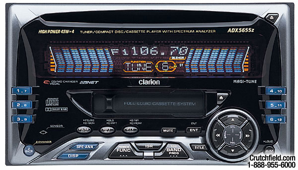 h020ADX5655Zdmt clarion adx5655z cd cassette receiver with cd changer controls at clarion adx5655z wiring diagram at cos-gaming.co