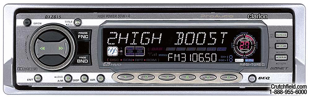 clarion proaudio dxz615 cd receiver with cd changer controls at rh crutchfield com