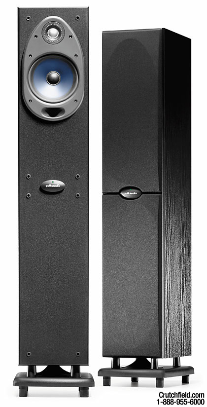 Polk Rt1000i Black Tower Speakers With Built In Powered