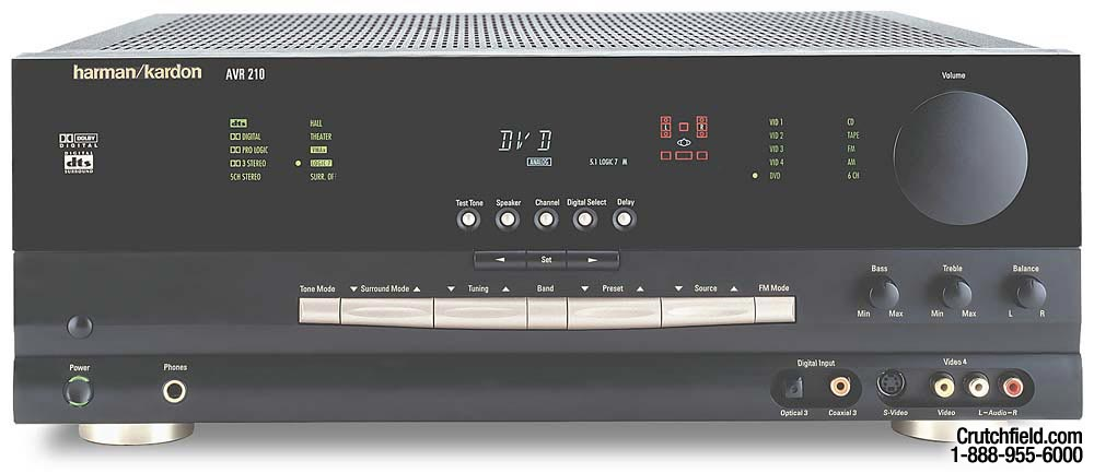 harman kardon avr 210 a v receiver with dolby digital and dts at rh crutchfield com Harman Kardon AVR 7200 Review Harman Kardon AVR 335 Receiver