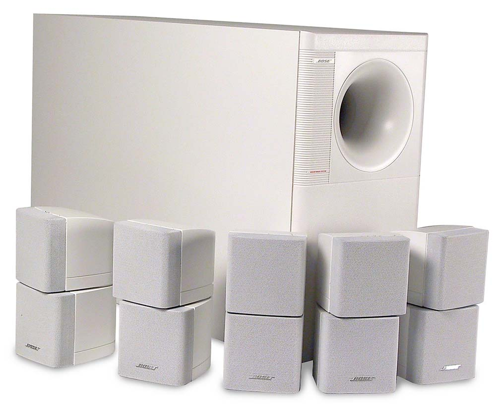 Bose® Acoustimass® 10 Series II (White) Home theater speaker system ...