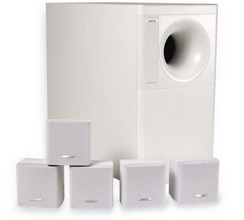Bose Car Speakers >> Bose® Acoustimass® 6 Series II (White) Home theater speaker system at Crutchfield