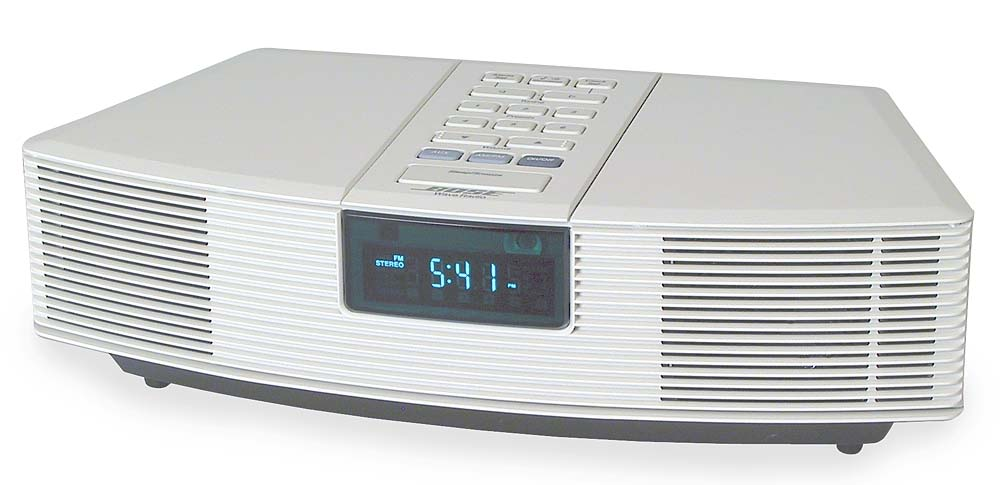 bose wave radio platinum white you won 39 t believe you 39 re listening to a table radio at. Black Bedroom Furniture Sets. Home Design Ideas