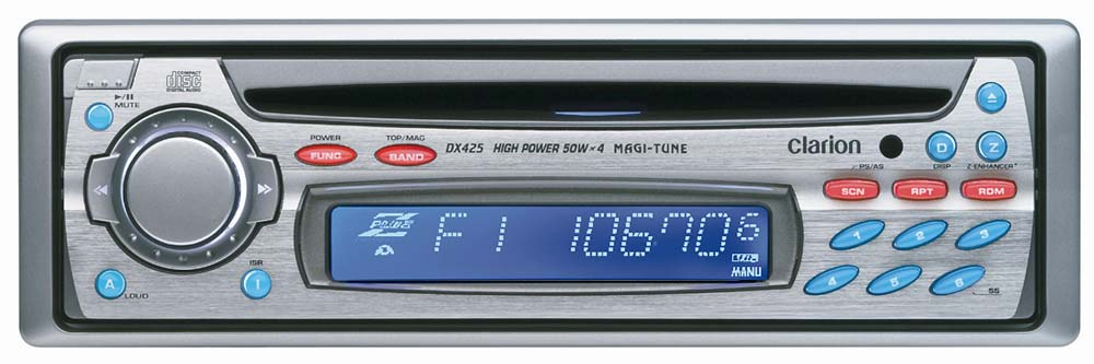 Clarion DX425 CD Receiver with CD Changer Controls at Crutchfield.com