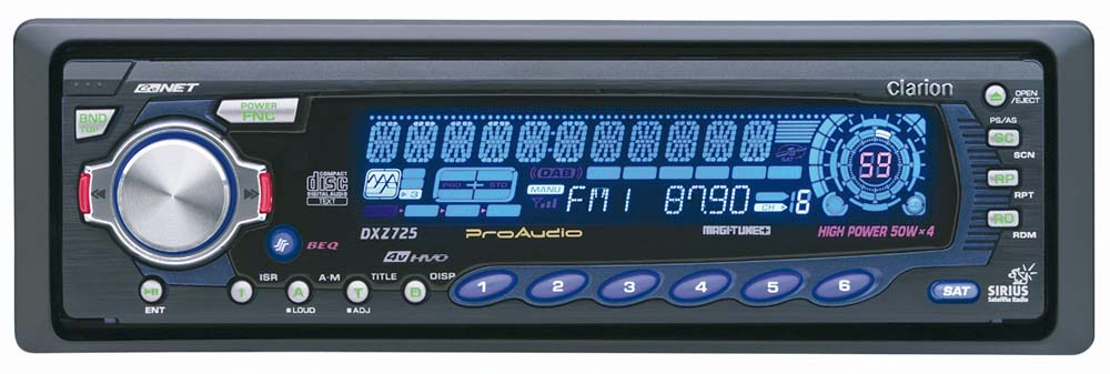 Clarion DXZ725 CD Receiver with CD Changer Controls at Crutchfield.com