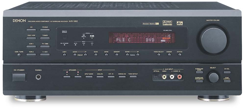 denon avr v receiver with dolby u00ae digtal  dts  dolby
