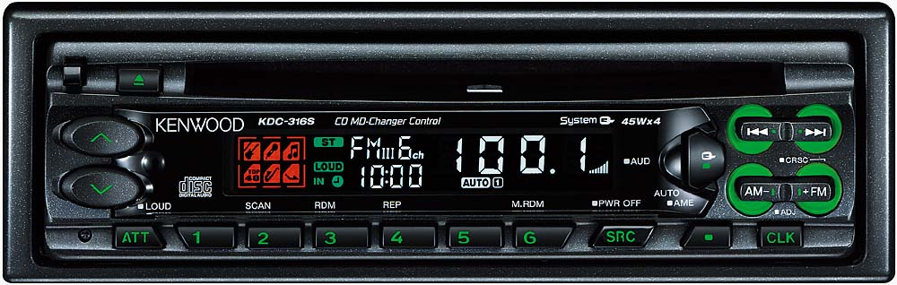 kenwood kdc 316s cd receiver with cd changer controls at crutchfield