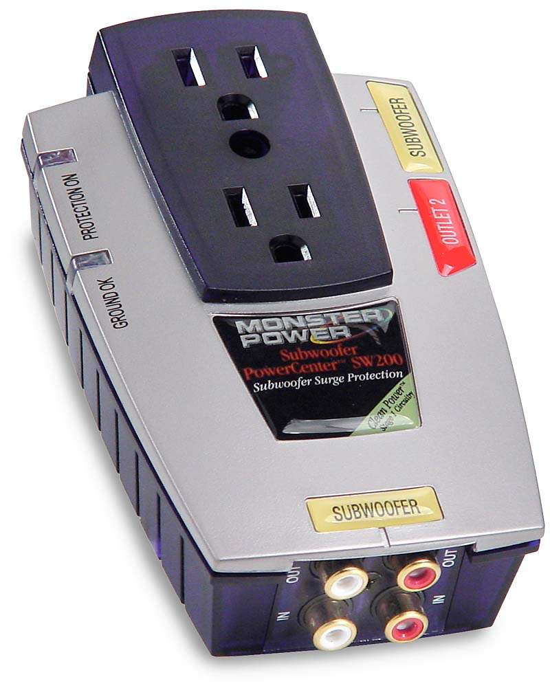 Monster Power SW 200 Space-saving surge suppressor for a powered ...