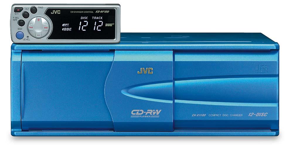 JVC CH-X1100RF 12-disc add-on FM CD changer at Crutchfield.com