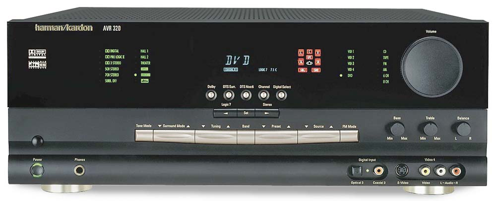 Harman kardon avr 320 a/v receiver with dolby digital, dts-es, and.