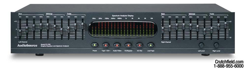 audiosource eq 200 10 band stereo graphic equalizer at crutchfield com rh crutchfield com AudioSource EQ Fourteen EQ 200