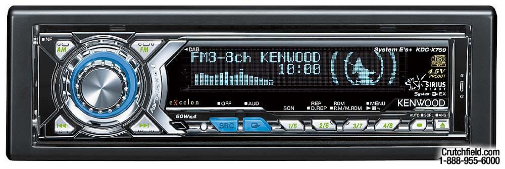 kenwood kdc x759 cd receiver with cd changer controls at crutchfield com rh crutchfield com Kenwood KDC -MP208 Wiring-Diagram Kenwood CD Player Wiring-Diagram