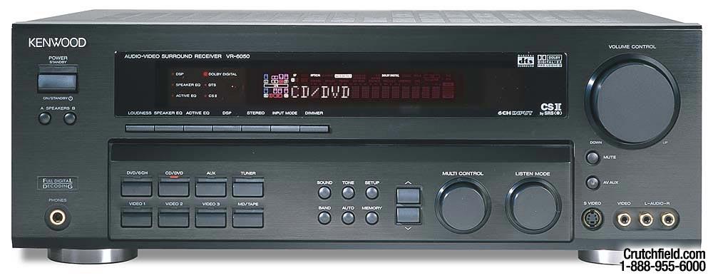 kenwood vr v receiver with dolby digital ex  dts