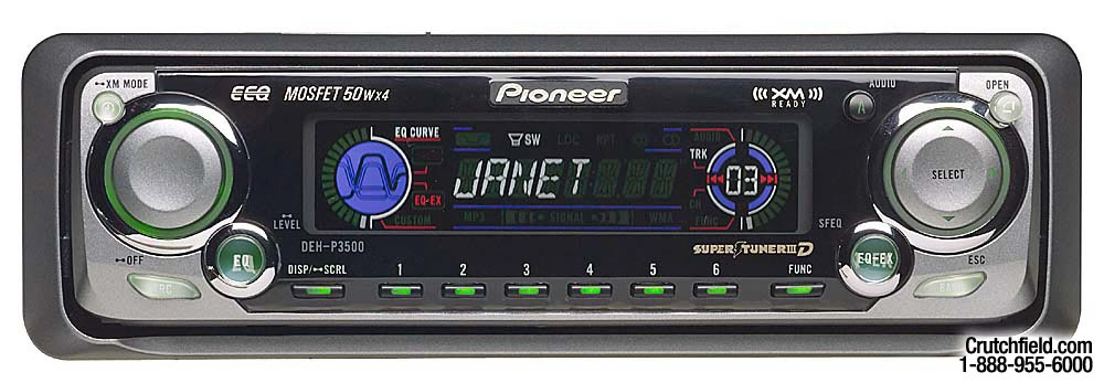 x130DEHP350 f pioneer deh p3500 cd receiver with cd changer controls at pioneer deh p3500 wiring diagram at nearapp.co