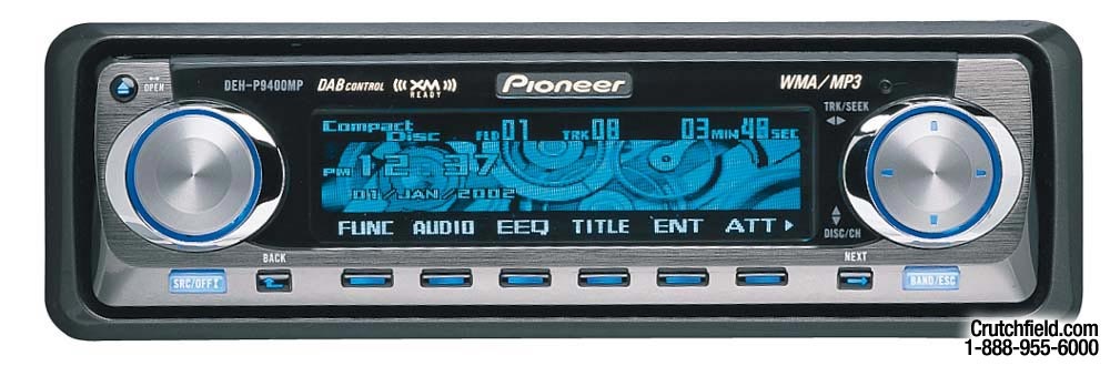 x130DEHP940 f pioneer deh p9400mp cd wma mp3 receiver with cd changer controls Pioneer Deh 16 Wiring-Diagram at edmiracle.co