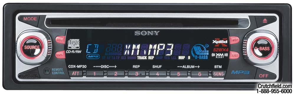 sony cdx mp30 cd mp3 receiver with cd changer controls at Sony Xplod Radio Wiring Diagram 630Ui sony cdx mp30 cd mp3 receiver with cd changer controls at crutchfield com